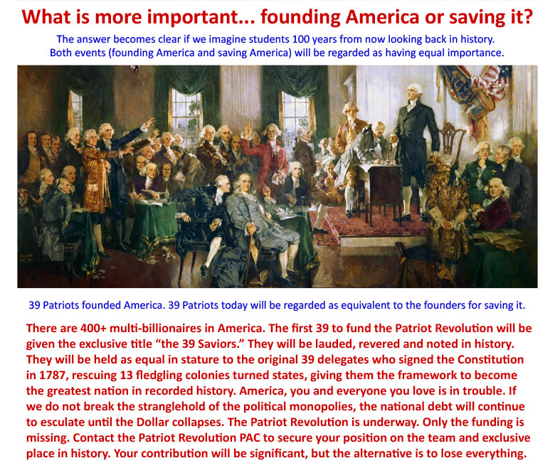 Funding the Patriot Revolution